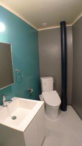 事例4 トイレと洗面所を同一空間にまとめた例