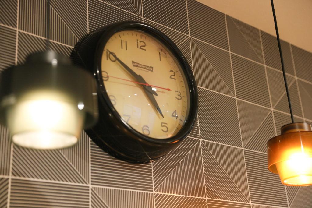 アクセントになる時計