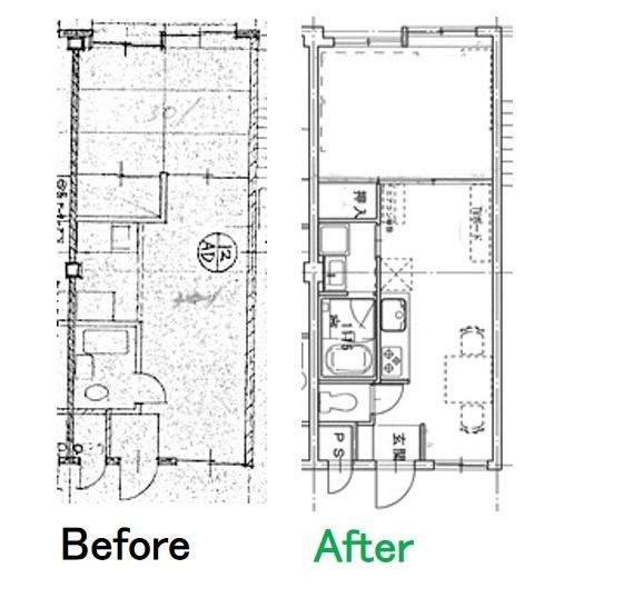 テナント付き3階建てマンションデザイン
