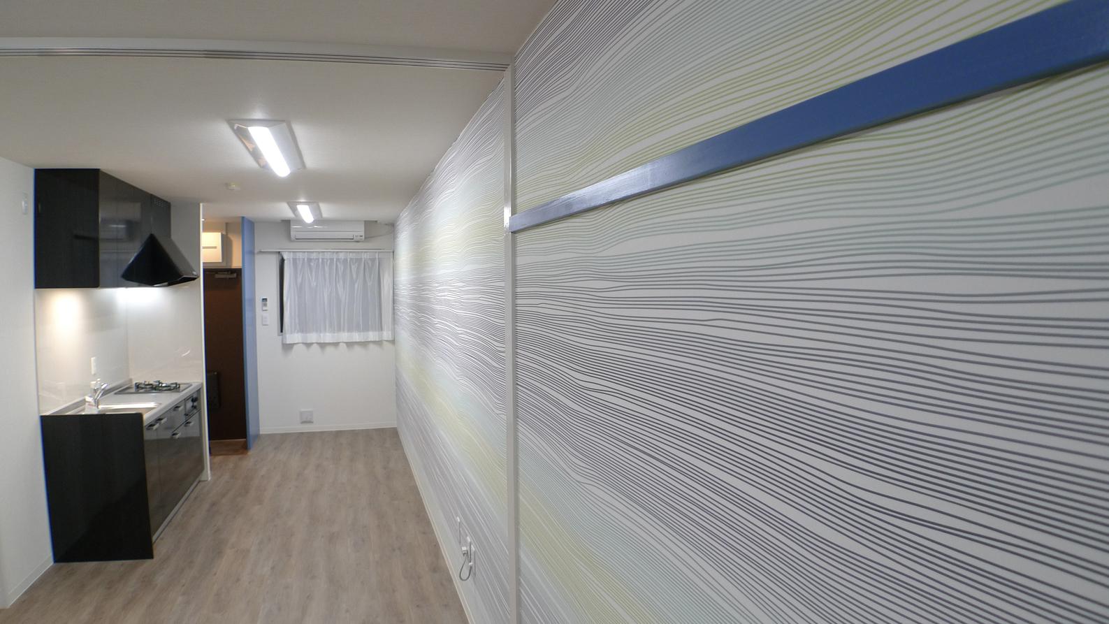 和室から洋室へリノベーション テーマ色:ブルー