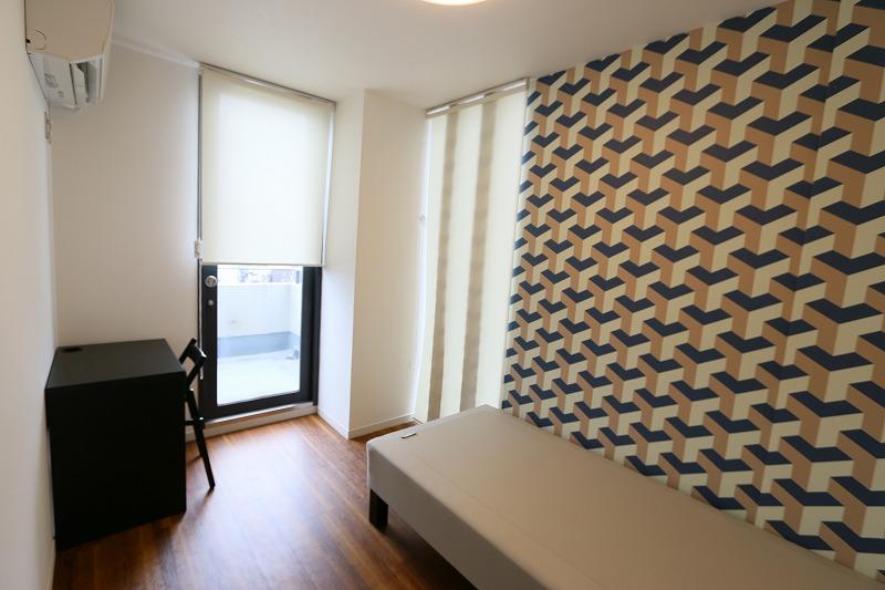 部屋の形がすべて違う個室