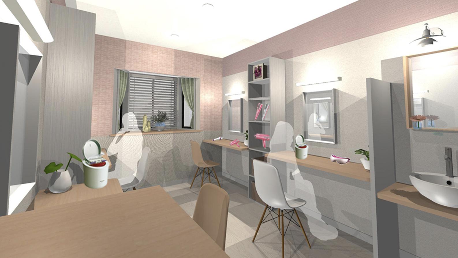 女子寮に魅力的なBe-Lounge
