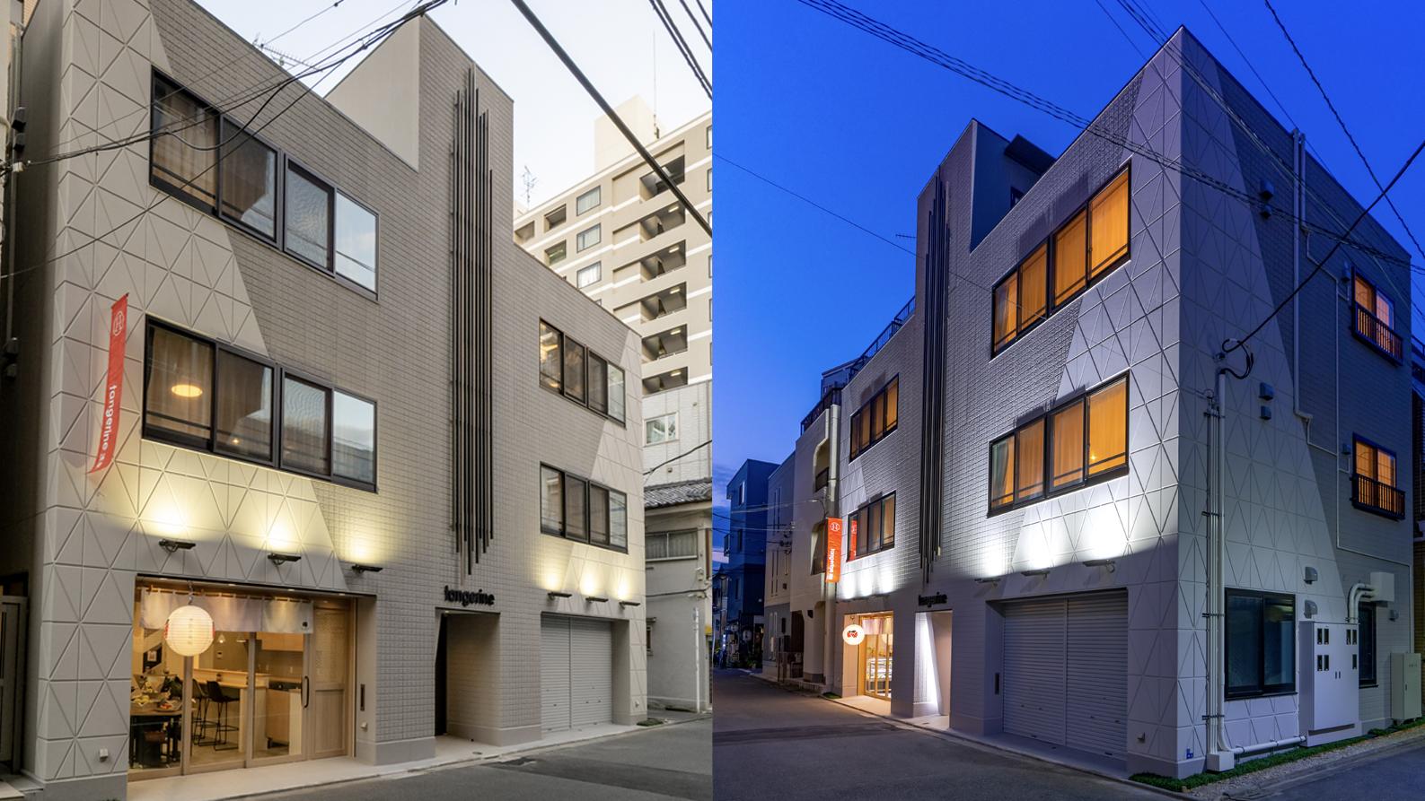 住宅街に馴染む色味とモダンデザインの外観