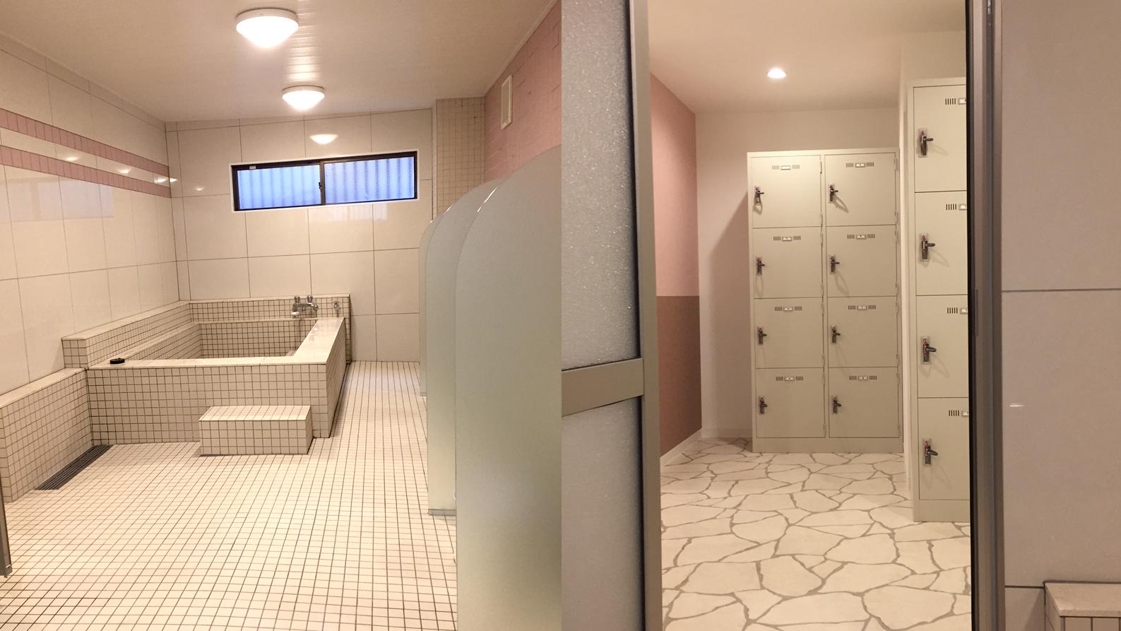 女子寮らしい大浴場の改装