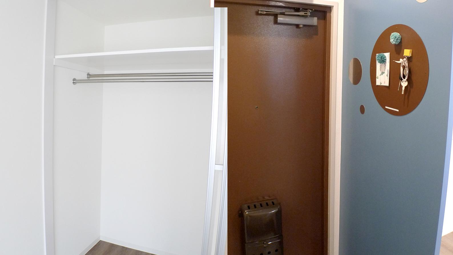 賃貸マンションの玄関とクローゼット