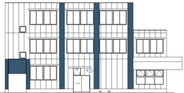 テナント付き3階建てマンションの外観