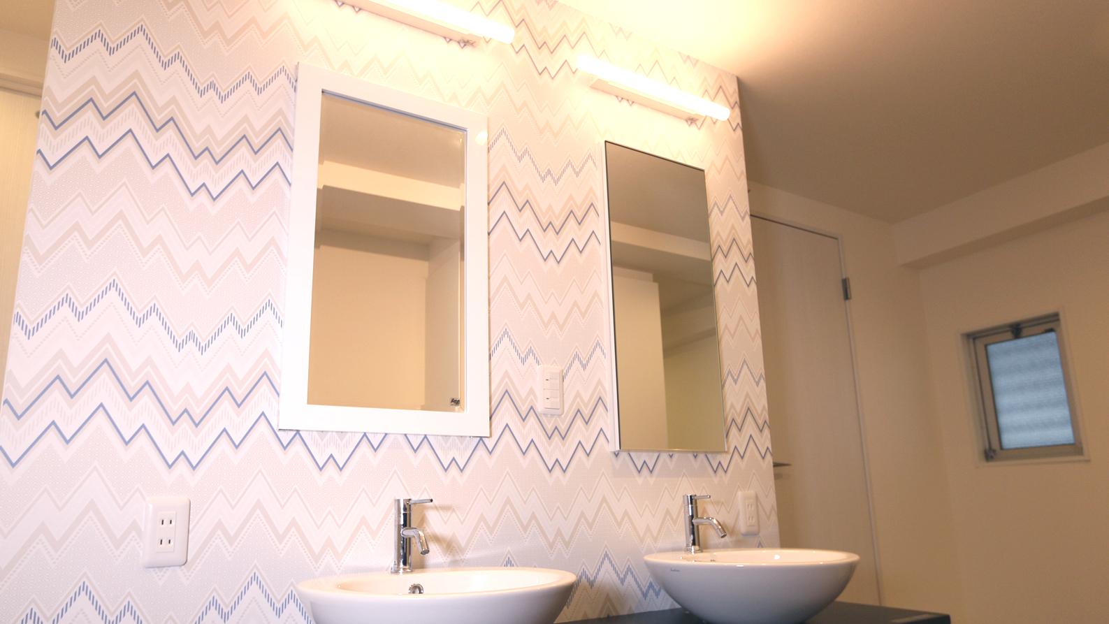 シェアハウス洗面 男子エリアのミニBe-Lounge