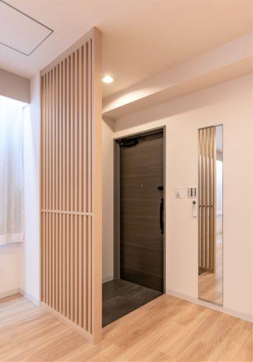 木製の美しい目かくしで玄関の雰囲気UP